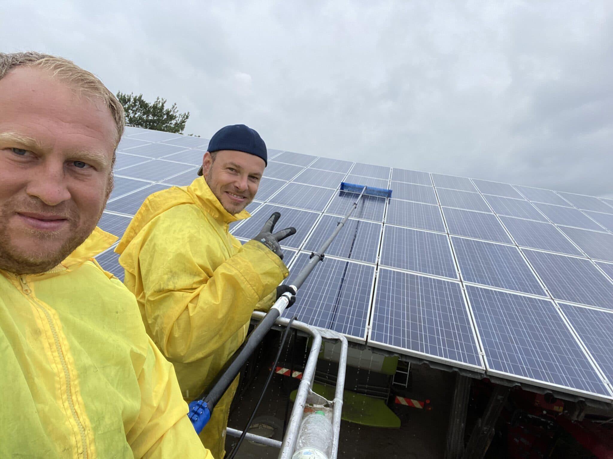 Solarpark Reinigung
